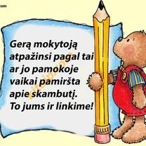 Su mokytojų diena!